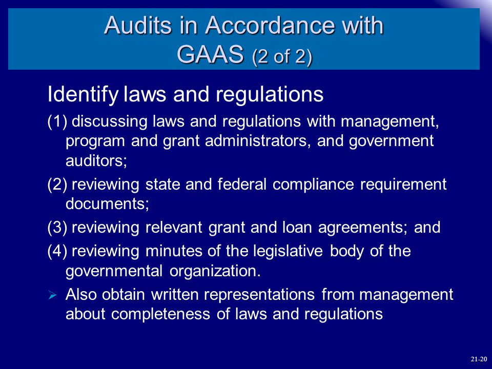 Audits in Accordance with GAAS (2 of 2)