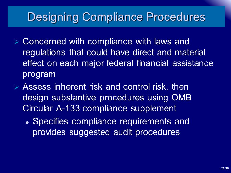 Designing Compliance Procedures