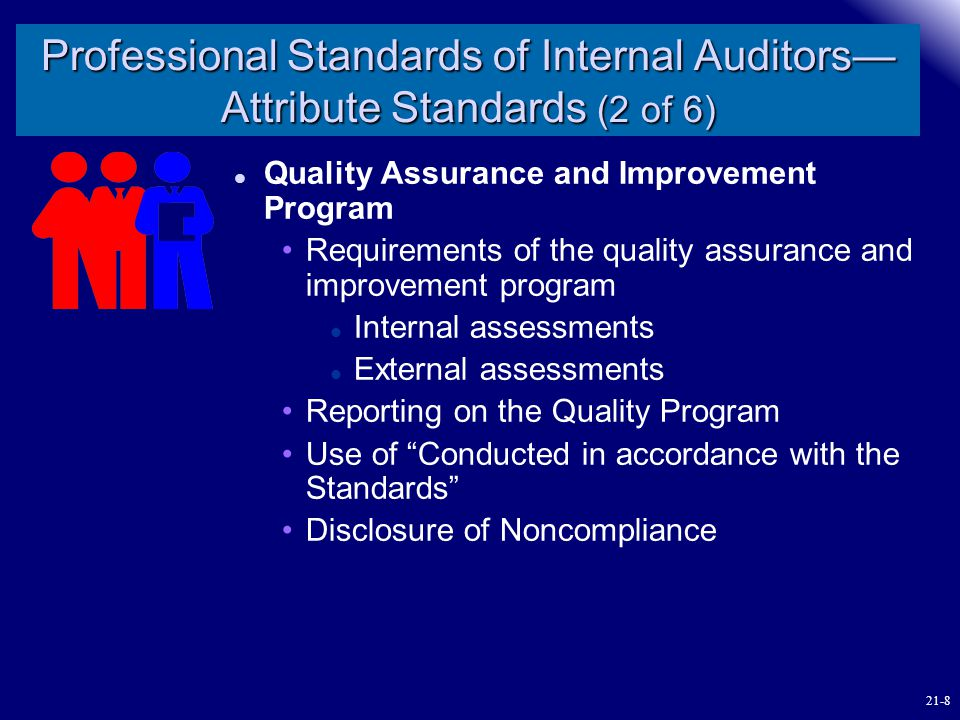 Professional Standards of Internal Auditors—Attribute Standards (2 of 6)