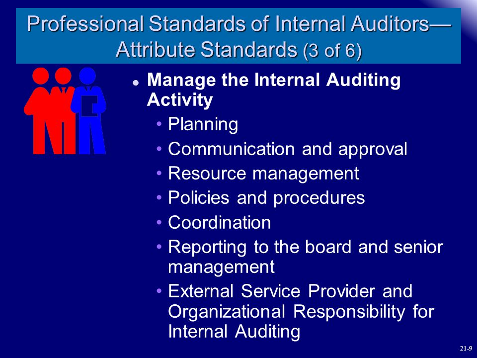 Professional Standards of Internal Auditors—Attribute Standards (3 of 6)
