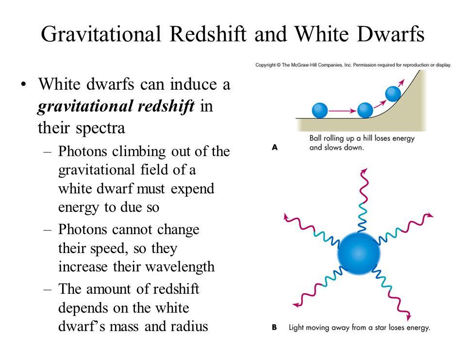 Gravitational Redshift and White Dwarfs