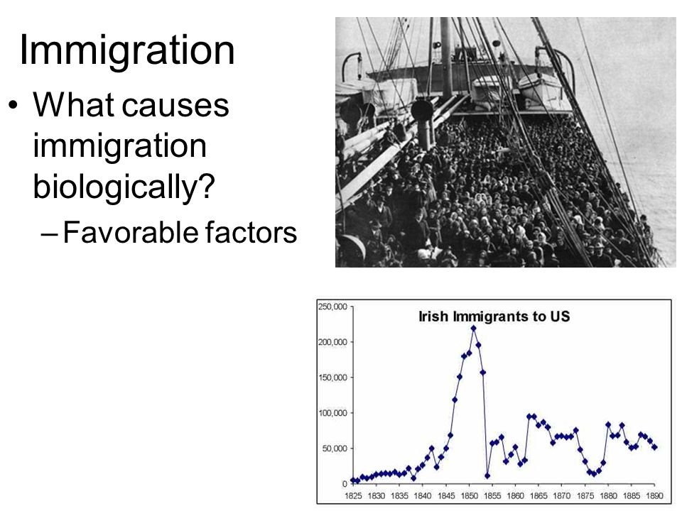 Immigration What causes immigration biologically Favorable factors