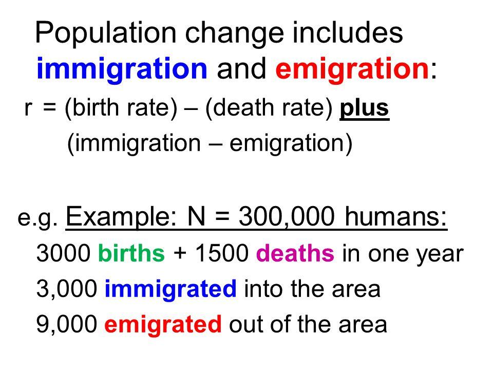 Population change includes immigration and emigration: