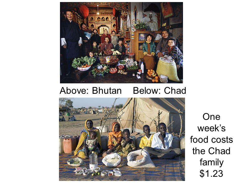 Above: Bhutan Below: Chad