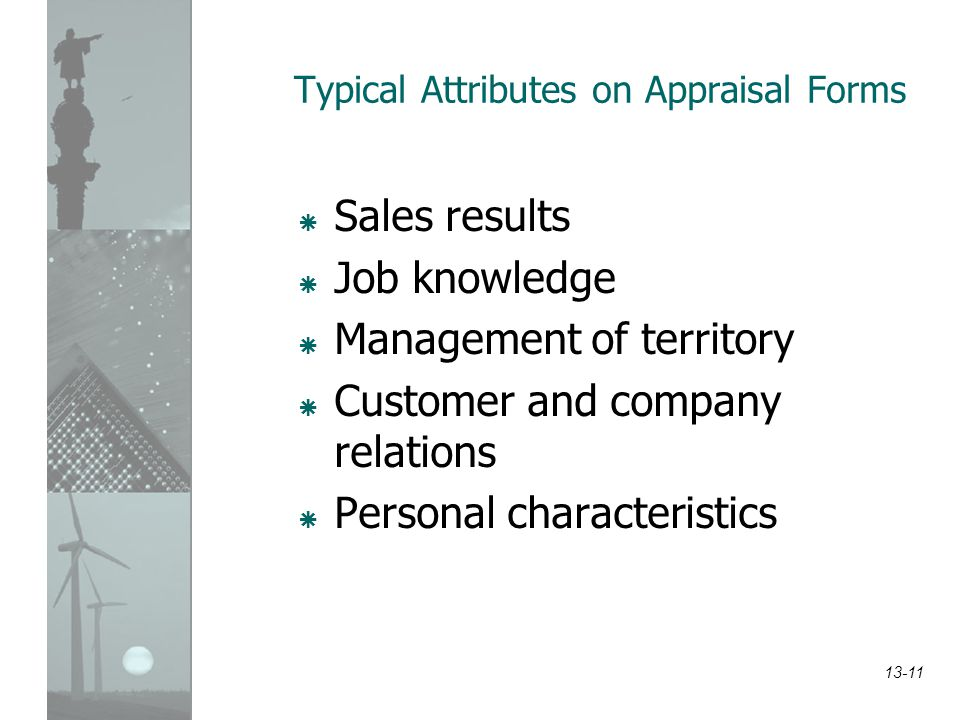 Typical Attributes on Appraisal Forms