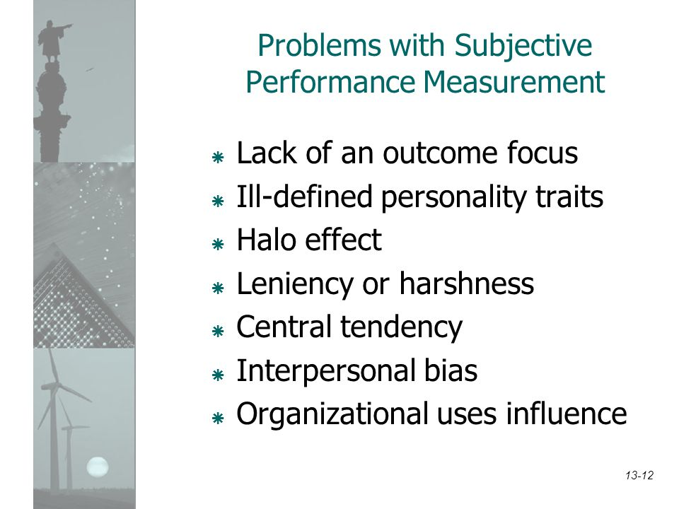 Problems with Subjective Performance Measurement