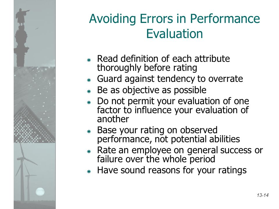 Avoiding Errors in Performance Evaluation
