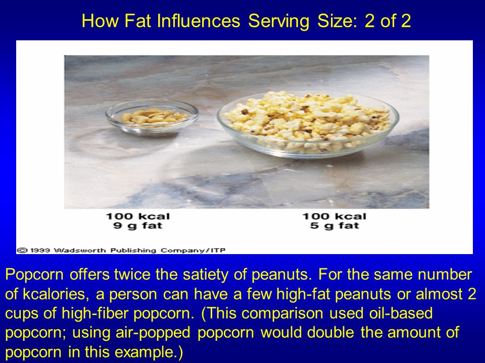 How Fat Influences Serving Size: 2 of 2