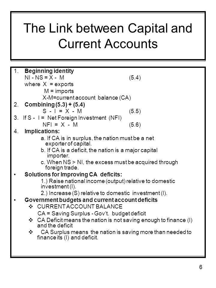 The Link between Capital and Current Accounts