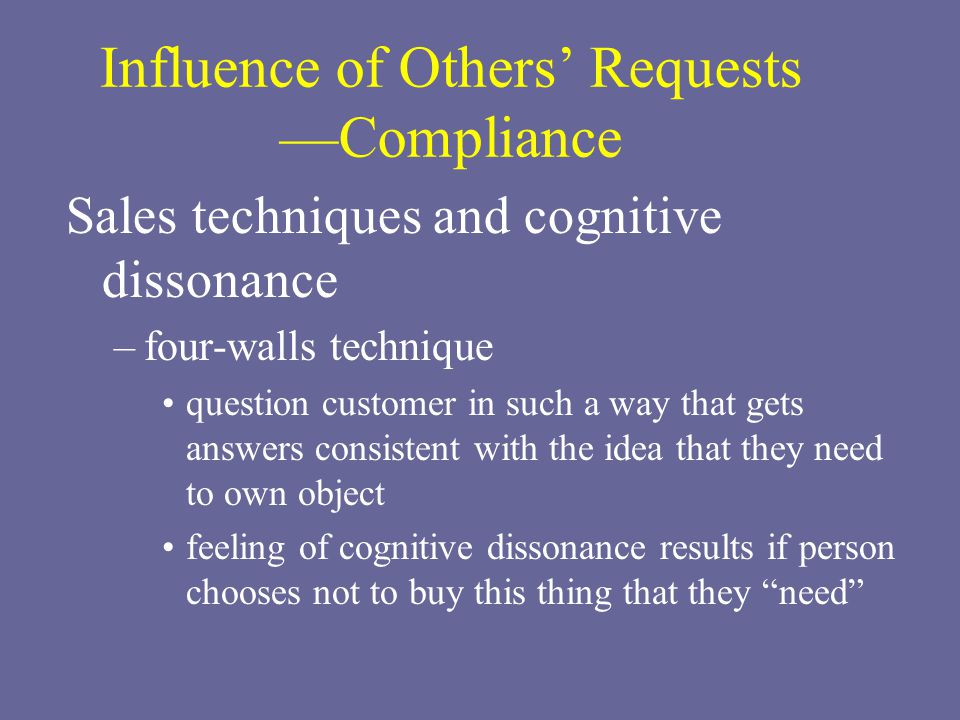 Influence of Others' Requests —Compliance