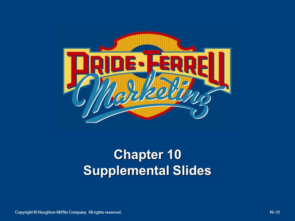 Chapter 10 Supplemental Slides