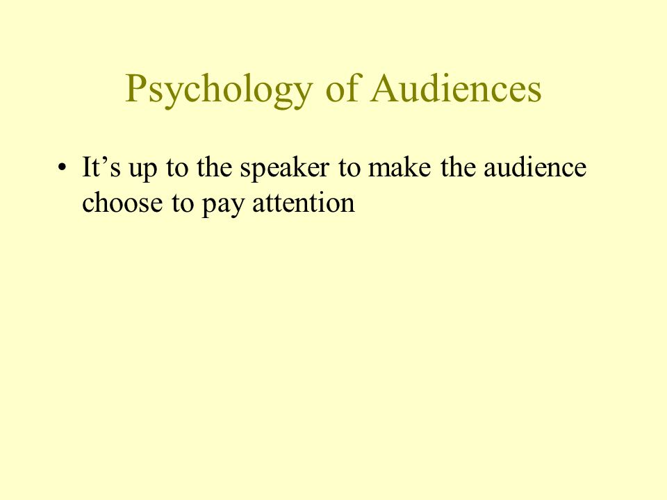 Psychology of Audiences