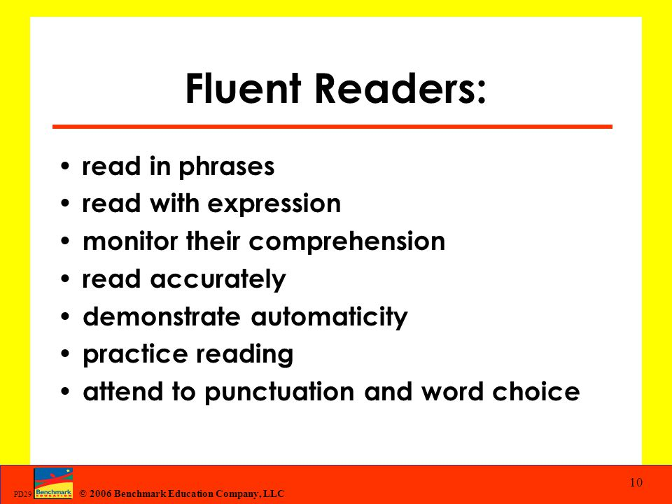 Fluent Readers: read in phrases read with expression