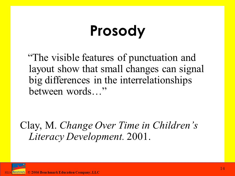 Prosody The visible features of punctuation and layout show that small changes can signal big differences in the interrelationships between words…