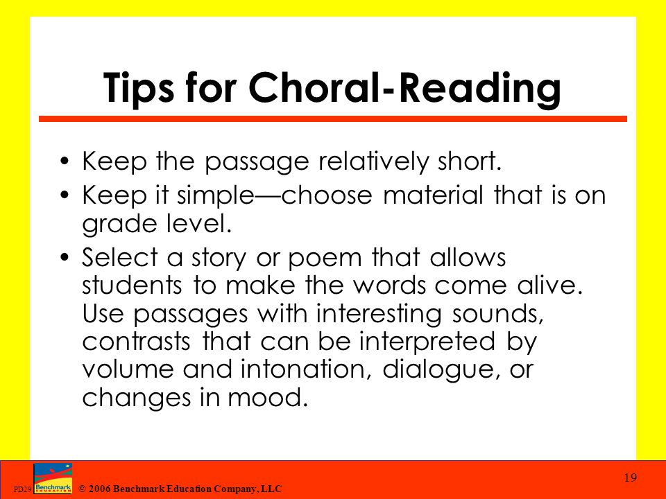 Tips for Choral-Reading