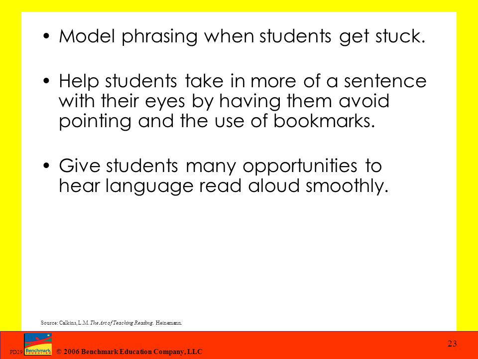 Model phrasing when students get stuck.