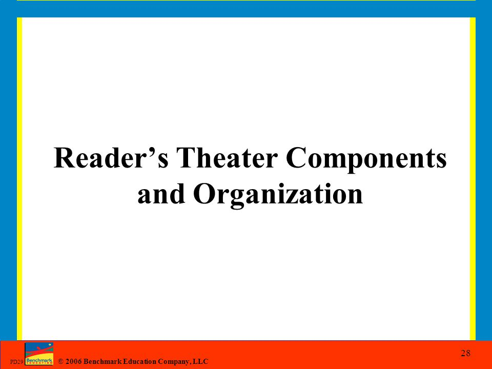 Reader's Theater Components and Organization