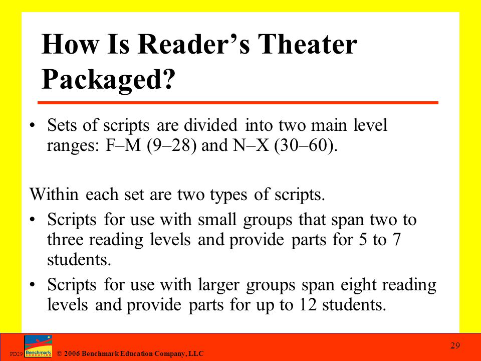 How Is Reader's Theater Packaged