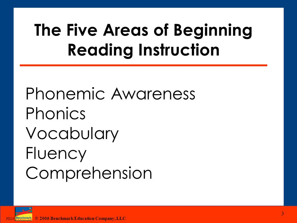 The Five Areas of Beginning Reading Instruction