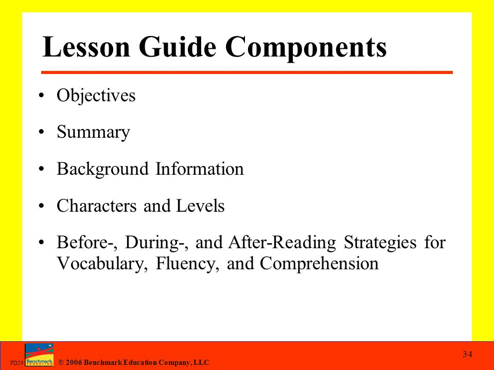Lesson Guide Components