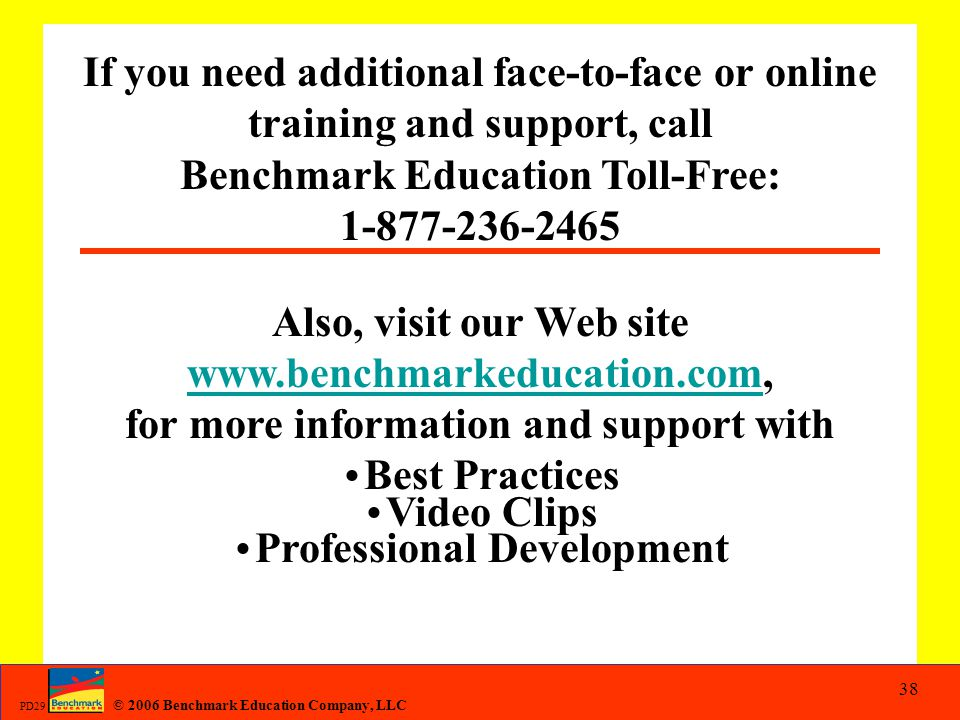 Benchmark Education Toll-Free: 1-877-236-2465