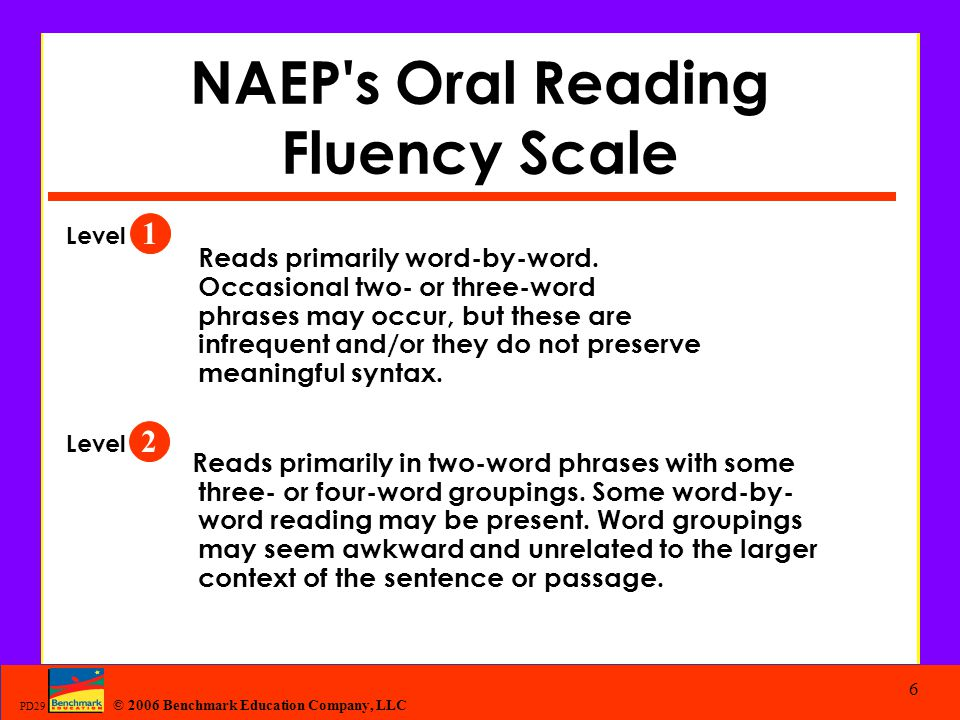 NAEP s Oral Reading Fluency Scale