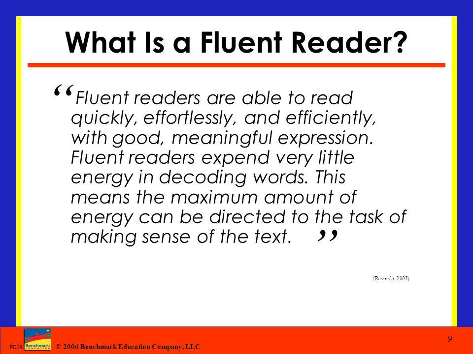 What Is a Fluent Reader
