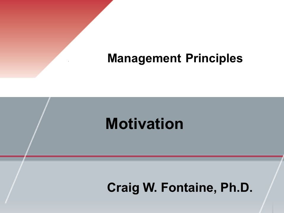 The Context of Motivation