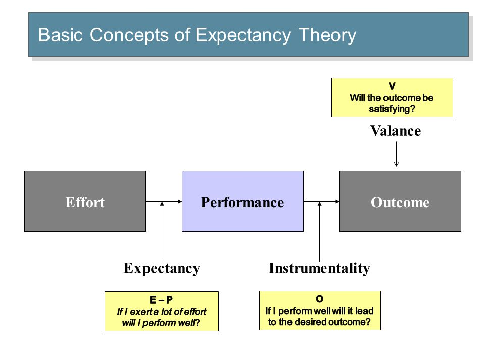 Expectancy Theory Relationships Summary