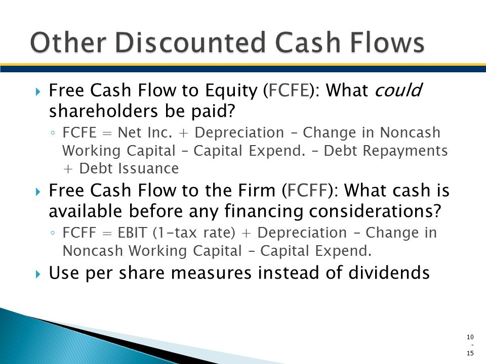 Other Discounted Cash Flows