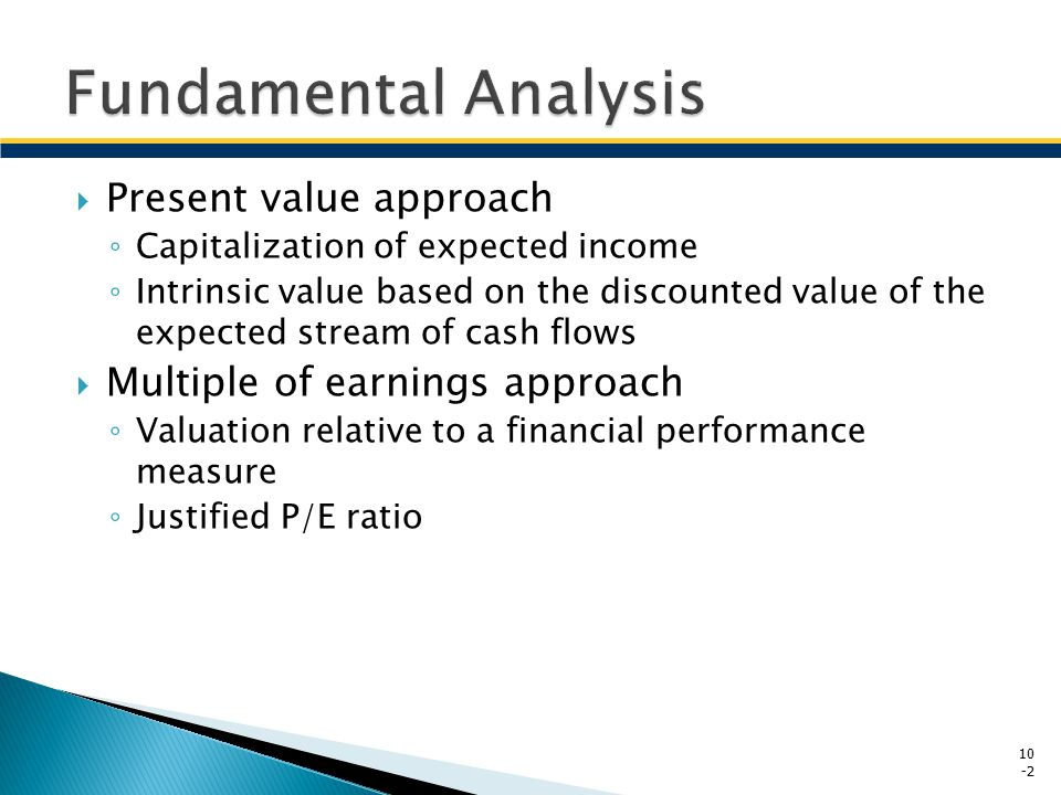Fundamental Analysis Present value approach