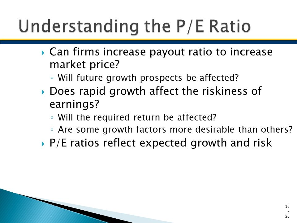 Understanding the P/E Ratio