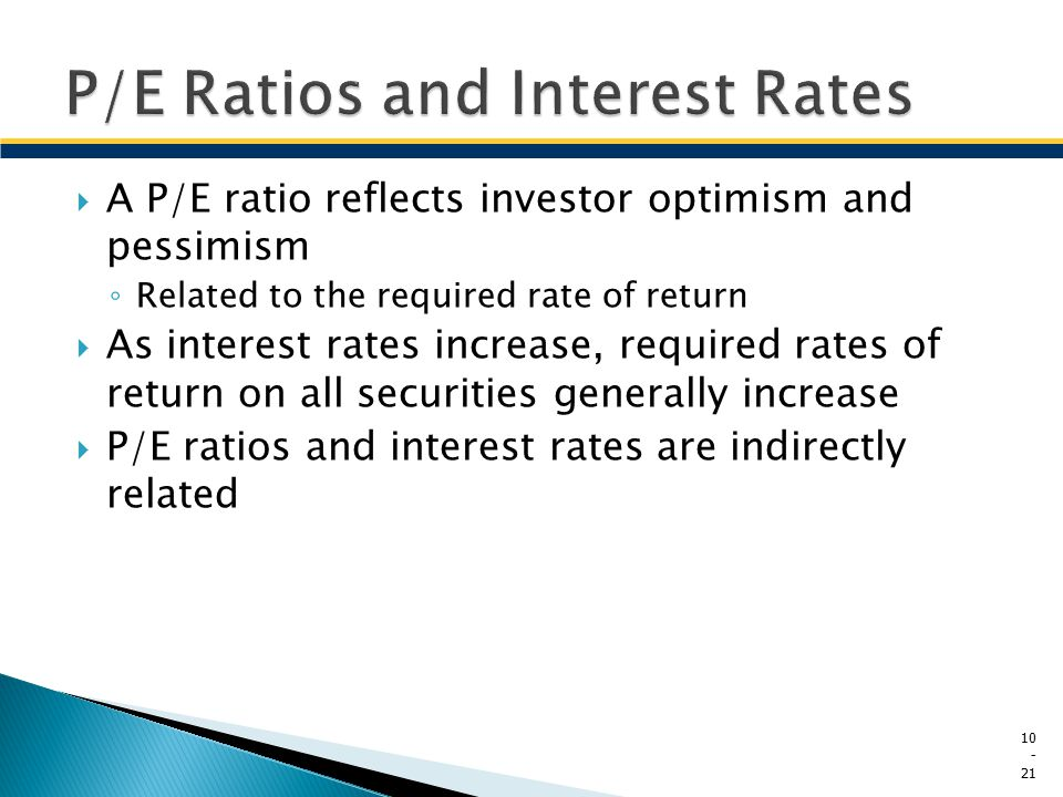P/E Ratios and Interest Rates