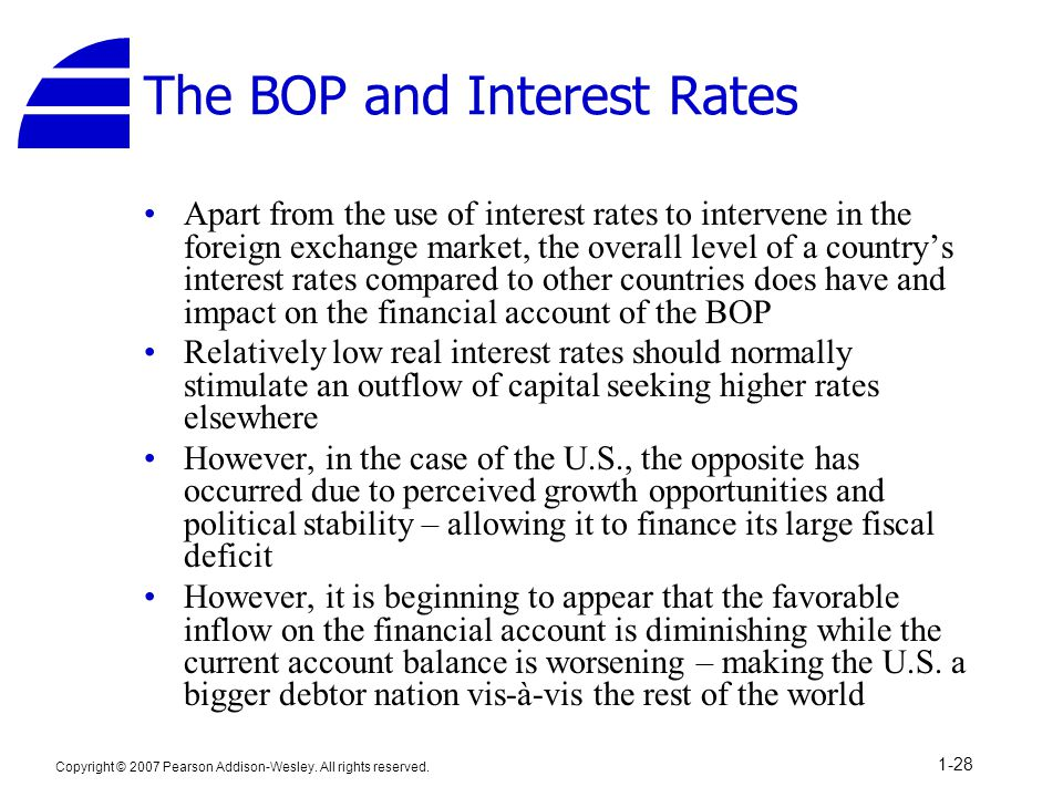 The BOP and Interest Rates