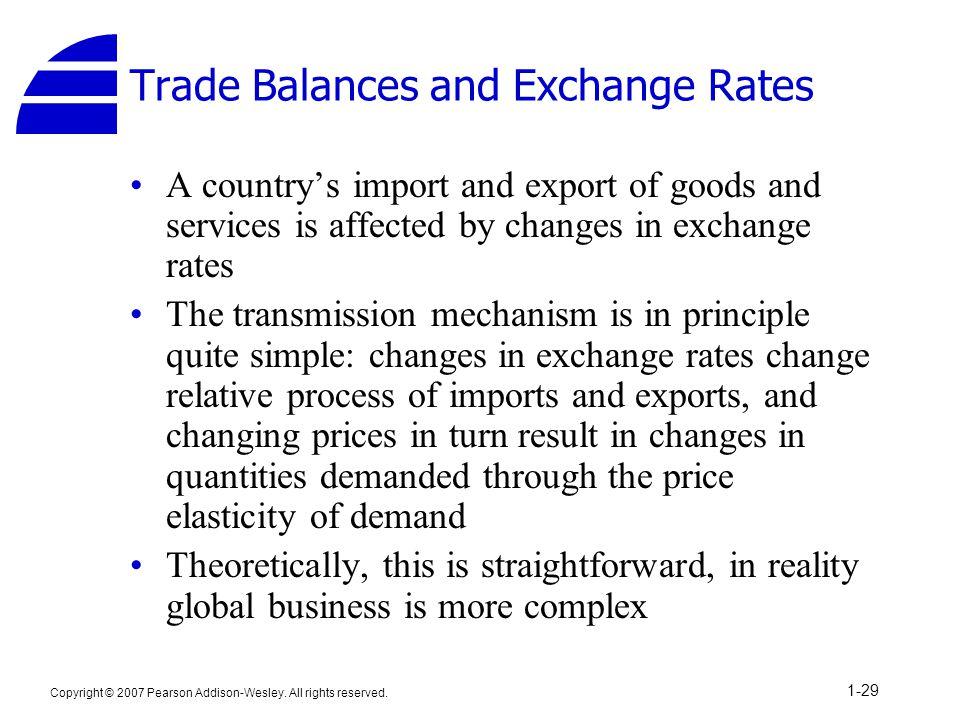 Trade Balances and Exchange Rates
