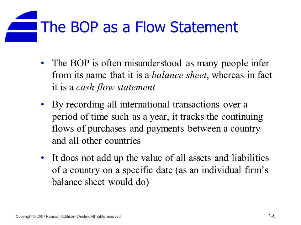 The BOP as a Flow Statement