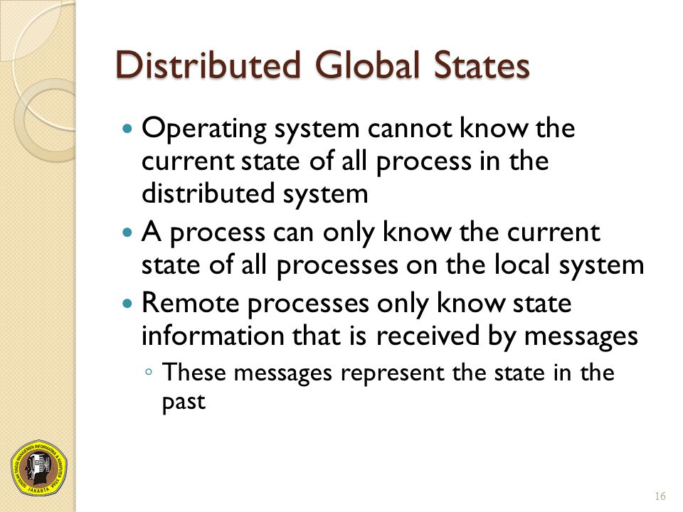 Distributed Global States