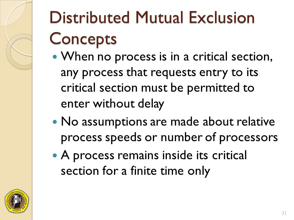 Distributed Mutual Exclusion Concepts