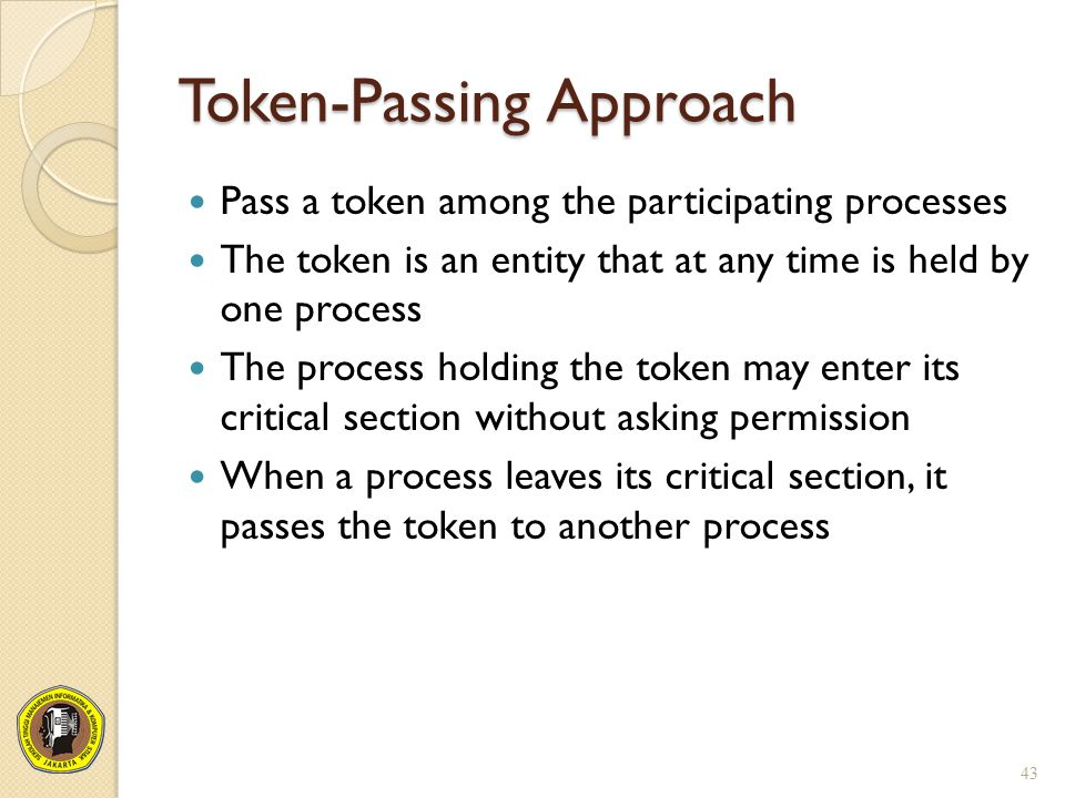 Token-Passing Approach