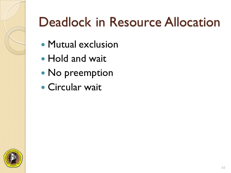 Deadlock in Resource Allocation