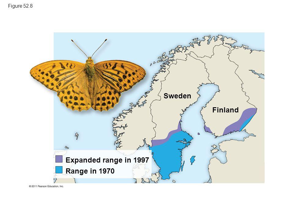 Sweden Finland Expanded range in 1997 Range in 1970 Figure 52.8