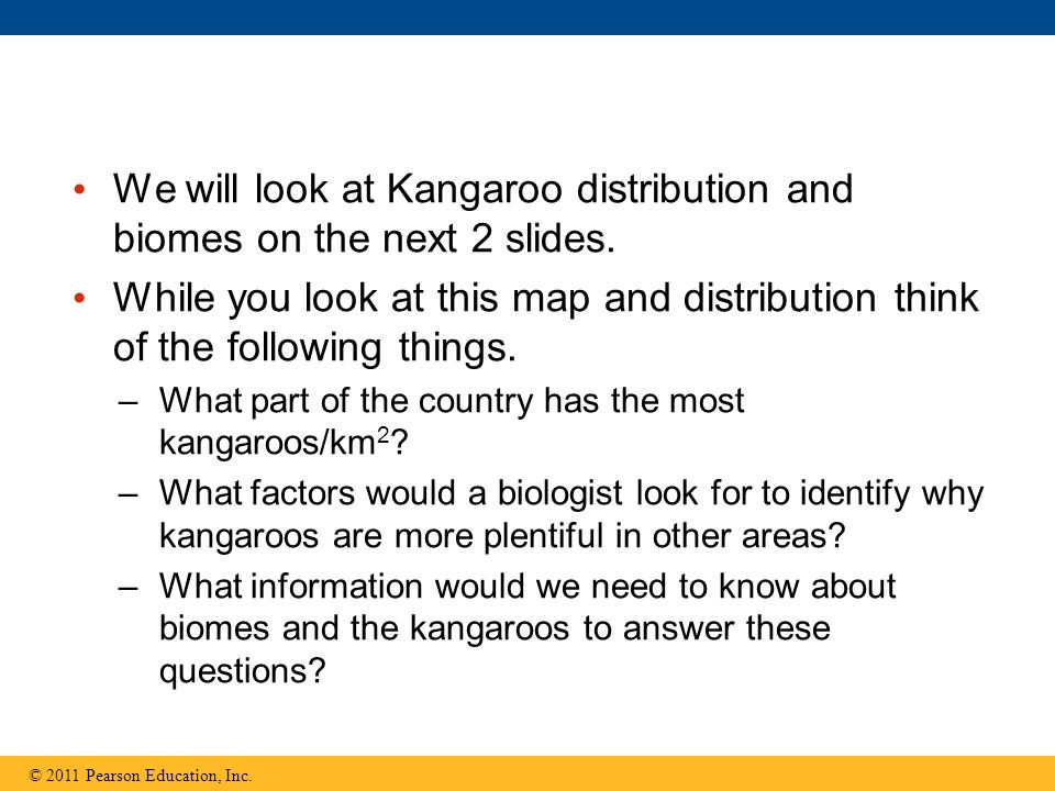 We will look at Kangaroo distribution and biomes on the next 2 slides.