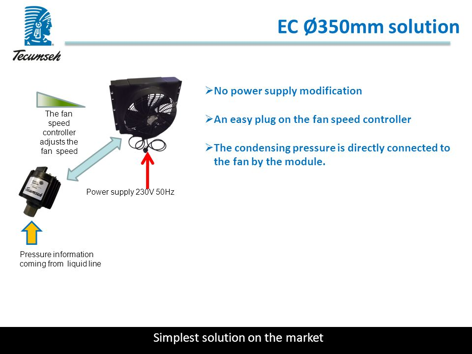 EC Ø350mm solution Simplest solution on the market