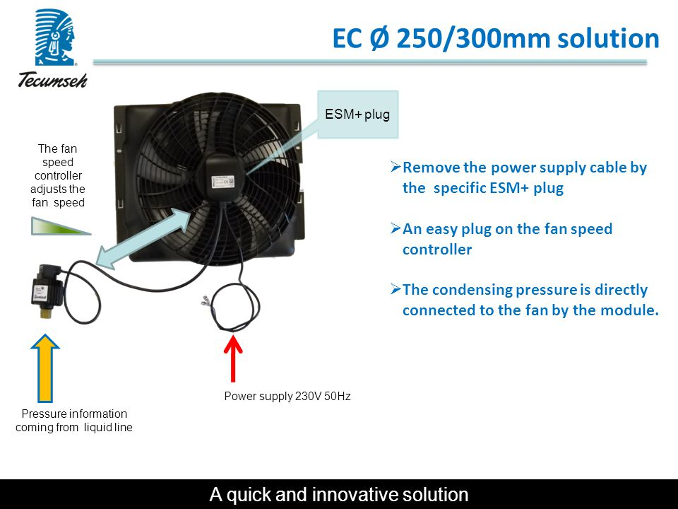 EC Ø 250/300mm solution A quick and innovative solution