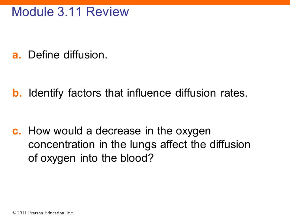 Module 3.11 Review a. Define diffusion.