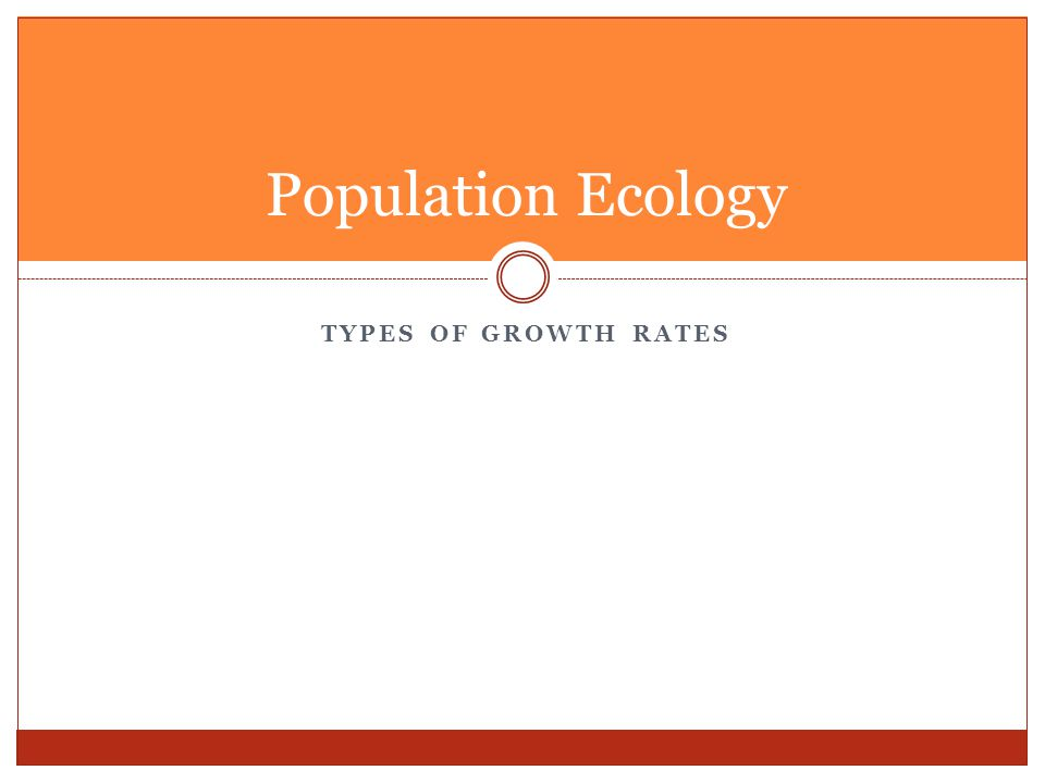 Population Ecology Types of Growth Rates