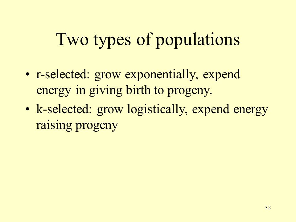 Two types of populations
