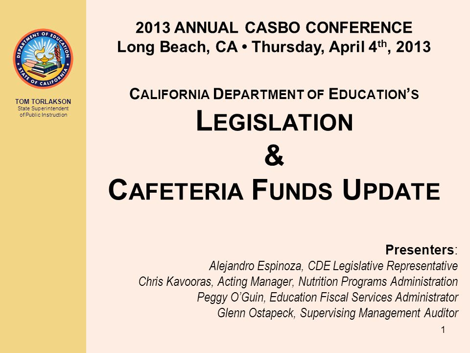 2013 ANNUAL CASBO CONFERENCE