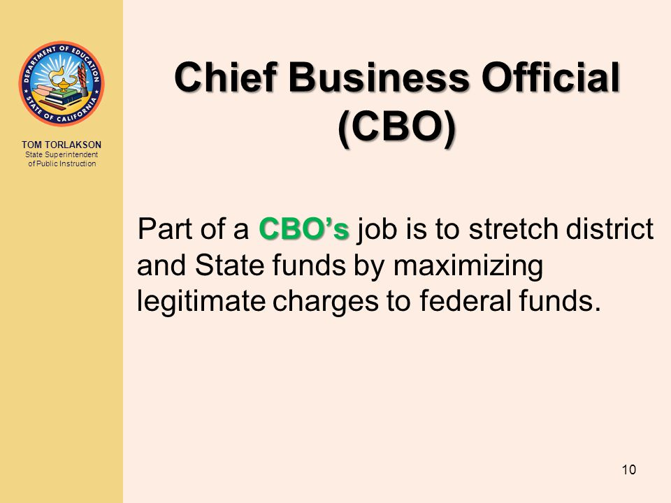 Chief Business Official (CBO)