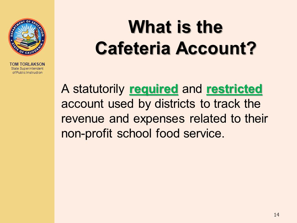 What is the Cafeteria Account